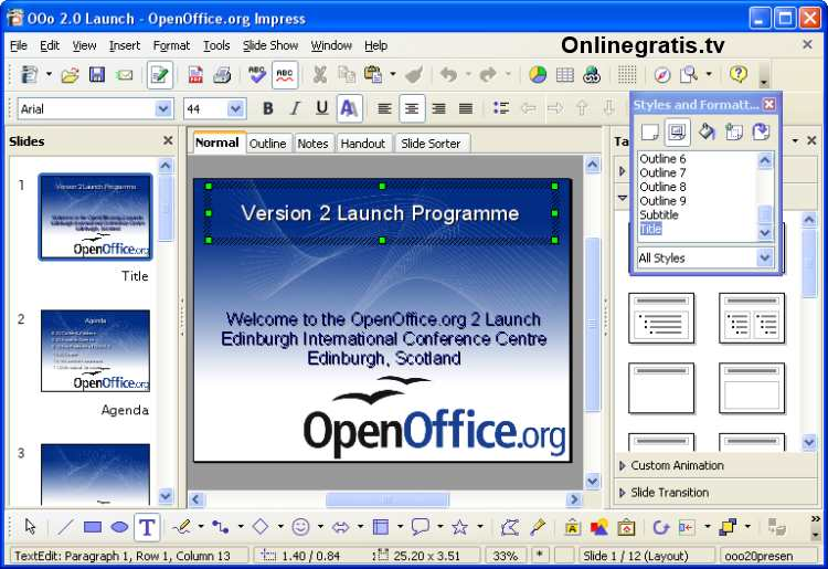 Impress openoffice para windows gratis - Open office windows 7 gratuit francais ...
